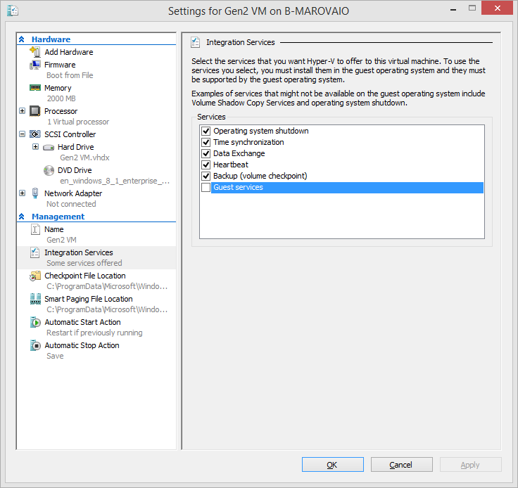 Generation 2 Virtual Machines In Windows 8 1 Hyper-V Part 2 (10/81